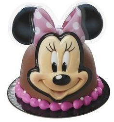 MINNIE MOUSE Ears Head Pink Bow Birthday Cake POP TOP Topper Decoration Set Kit Lgp