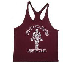 Mens Y-Back String Tank :G301 Golds Gym String Tank Top Mens Y-Back To Logo - Gym Vests | Fitness Gear