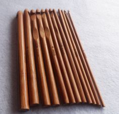Set di 12 Uncinetti in Bamboo Misure dal 3mm di CuciCuciCheTiPassa