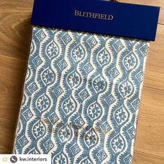 We are loving this post from @kw.interiors: Delighted to have our Blithfield fabric and wallpaper book arrive at the studio this week......