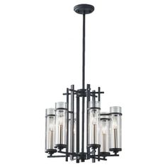 6 - Light Single Tier Chandelier from Murray Feiss