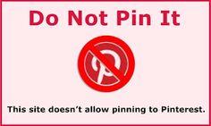 Para evitar que suban fotos de nuestro sitio web a Pinterest.
