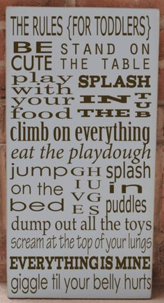 Toddlers rules ;)