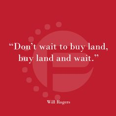 Don't waste the time overthinking, land is always a good investment!