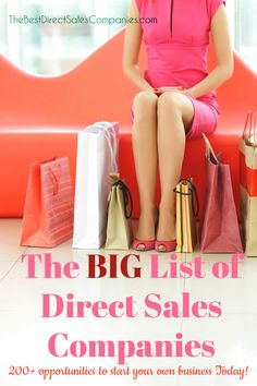 HUGE list of direct sales companies offering consultants the opportunity to own their own business and realize their dreams. Own Business Ideas, Home Party Business, Home Based Business, Direct Sales Companies List, Direct Sales Tips, Work From Home Moms, Make Money From Home, How To Make Money, Selling Online
