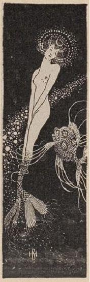 Mermaid by H. v. Bouvard for Jugend, 1909
