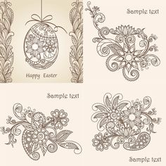Happy Easter cards and ornaments vector. We have over 10,000+ pictures. All images on the site vectorpicfree.com free for download and ready for print.