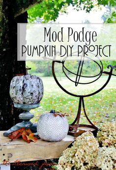 Thistlewood DIY Decorative Decoupage Mod Podge Pumpkins