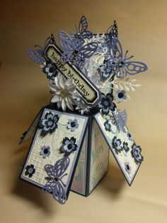 Box Card- butterflies...beautiful!