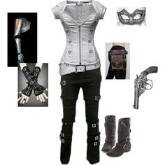 Steampunk Me 3 by dannidan on Polyvore featuring Masquerade