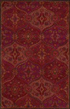 """India House IH88 8' x 10'6"""" Red Rug contemporary rugs"""
