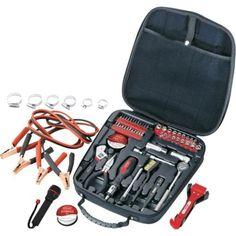 Apollo 64 Piece Travel & Automotive Tool Kit, Black