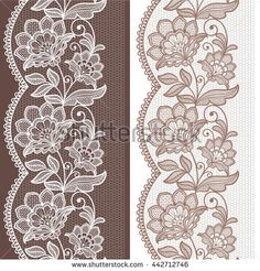 Find Seamless Lace Floral Background Vintage Lace stock images in HD and millions of other royalty-free stock photos, illustrations and vectors in the Shutterstock collection. Border Embroidery Designs, Embroidery Motifs, Machine Embroidery, Brush Embroidery, Lace Patterns, Textile Patterns, Lace Drawing, Art Deco Invitations, Lace Painting