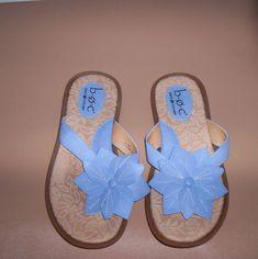 c0ff51f48242 BORN CONCEPT Womens Blue Flower Thong Sandals Size 6 New!  Brn  Sandals