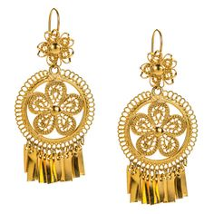 JJ Caprices - Mexican Filigree Earrings from Oaxaca