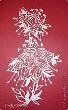 Открытка Вырезание Цветок Бумага фото 1