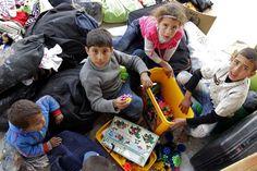 Campo de refugiados Jordania - Reparto de juguetes