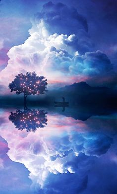 Find images and videos about blue, nature and sky on We Heart It - the app to get lost in what you love. Beautiful Sky, Beautiful Landscapes, Beautiful World, Image Nature, Nature Photos, In The Tree, Photomontage, Amazing Nature, Pretty Pictures