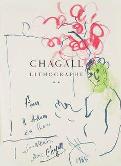 Marc CHAGALL. Fernand MOURLOT. Chagall lithographe, Tome II, 1959-1962 (André Sauret, 1963). In-4, cartonnage d'éditeur toile écrue, sous jaquette couleurs (jaquette plastique fendue). {CR}Édition originale… - Ader - 04/12/2014