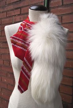 Beatrice Couture Upcycled Vintage Necktie and Recycled Fur Scarf by BuffaloBlueDesigns, $75.00...Not sure if I like the tie idea or not