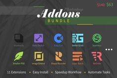 Photoshop Add-Ons Bundle by h3design on @creativemarket
