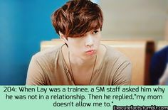 Exo Facts....LOL....I think this actually helped Yixing's case....His personality might have been completely different if he had gone out with people....Who knows? We might not have ever seen the cute and extremely kind side of Yixing