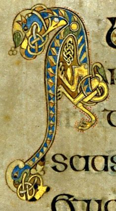 Book of Kells - initial letter A