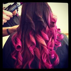 ombre pink.