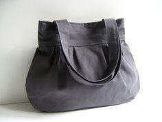 Sacs en tissu, Comfy Bag in Olive Grey - everyday purse - est une création orginale de bayanhippo sur DaWanda