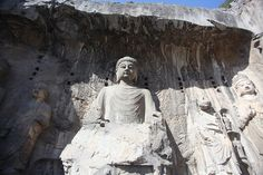 EXPOSED: The magnificent Longmen Grottoes—2,345 artificially carved caves | Ancient Code  - Lushena Buddha at Longmen Grottos in Luoyang. Image credit: Wikimedia Commons.