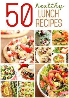 50 Healthy Lunch Recipes from SixSistersStuff.com | Healthy eating is so hard for me!  I typically have a smoothie for breakfast to start my day off on the right foot, but by the time lunch rolls around I am ready to dive face first into a bag of potato chips!  These easy, healthy lunch ideas will help curb those midday cravings.