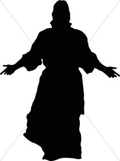 Jesus in Silhouette Jesus On Cross Tattoo, Arte Lowrider, Jesus Drawings, Bible Story Crafts, Religious Tattoos, Jar Art, Silhouette Clip Art, Christian Symbols, Church Banners