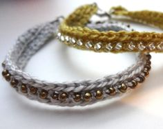 Free Crochet Beaded Bracelets Instructions | Crochet Seed Bead Bracelet ∙ How To by EVEnl on Cut Out + Keep