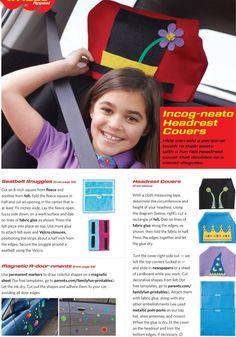 Kids head rest and seat belt adjusters