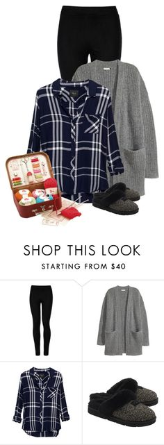 """Cozy at Home"" by sherry7411 ❤ liked on Polyvore featuring Wolford, Rails, UGG Australia and Moulin Roty"