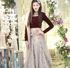 Eastern Winter Formal Fashion Look with 2019 Velvet Dresses – Designers Outfits Collection Pakistani Wedding Outfits, Pakistani Bridal, Pakistani Dresses, Indian Dresses, Pakistani Mehndi Dress, Wedding Dresses For Girls, Party Wear Dresses, Bridal Dresses, Girls Dresses