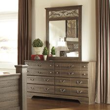 Allymore 6 Drawer Dresser with Mirror