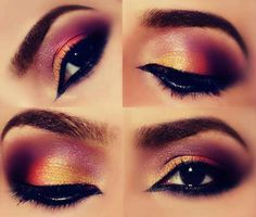 peach and pink makeup. electrifying combination.