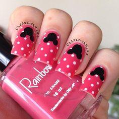 disney nail art   Disney nail art Glam Nails, Funky Nails, Love Nails, How To Do Nails, Mickey Mouse Nail Design, Mickey Mouse Nails, Minnie Mouse, Beautiful Nail Designs, Cool Nail Designs