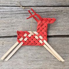 Woven Horse/Reindeer Ornament PDF digital instructions by Baskauta27
