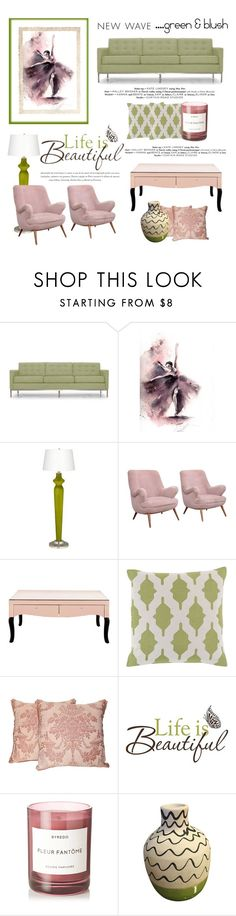 """""""Life is Beautiful"""" by conch-lady ❤ liked on Polyvore featuring interior, interiors, interior design, home, home decor, interior decorating, Joybird, Décor 140, Fortuny and Brewster Home Fashions"""