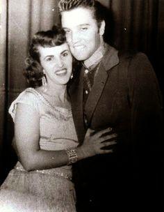 April 13, 1956 - Elvis and Wanda Jackson in Amarillo, TX