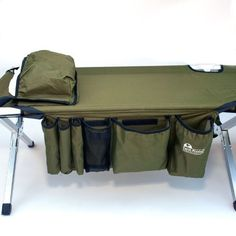 GOODS+GADGETS Aluminium folding army camp bed folding camp bed /& guest bed
