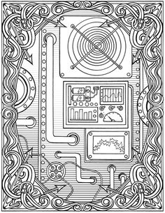 Welcome to Dover Publications  Creative Haven Steampunk Devices Coloring Book