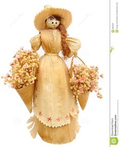 Corn Husk Doll - Download From Over 27 Million High Quality Stock Photos, Images, Vectors. Sign up for FREE today. Image: 9953031 Diy Arts And Crafts, Paper Crafts, Audrey Doll, Corn Husk Crafts, Corn Dolly, Corn Husk Dolls, Doll Crafts, Fall Halloween, Art Dolls