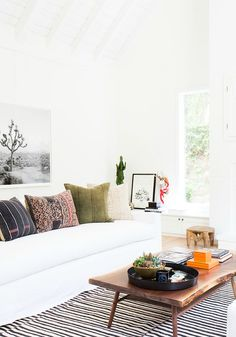 Mix and match your favorite accent pillows to create a unique home decor feel right in your living room.
