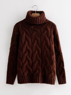 Shop Turtleneck Cable Knit Sweater online. SheIn offers Turtleneck Cable Knit Sweater & more to fit your fashionable needs.