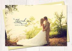 Wedding Thank You Card or Magnet Sunnyside von cardcandydotcom