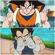 If goku and vegeta switch bodies 😏😂 Dragon Ball Z, Dragon Ball Image, Goku Y Chichi, Dragon Born, Vegito Y Gogeta, Goku Pics, Dbz Memes, Goku Drawing, Tsundere