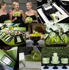 lime green silver and black wedding | Black & Lime green wedding! (:
